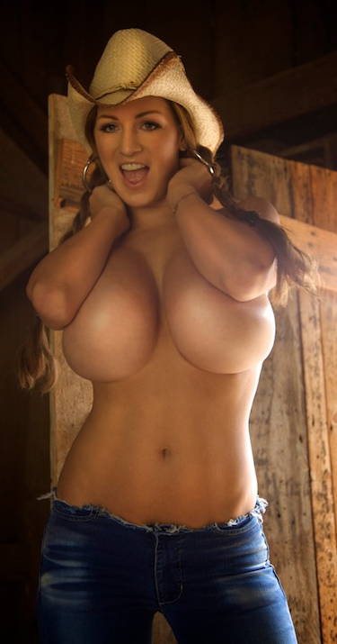 Jordan Carver getting excited over her new boobs